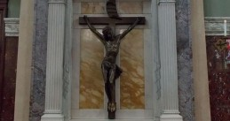 Crucifix at the Cathedral of Saint Patrick in Harrisburg, Pennsylvania.