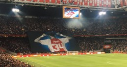 Tribute to Abdelhak Nouri during the Ajax vs Nice Champions League match in the Johan Cruijff Arena in Amsterdam, 2 Aug 2017