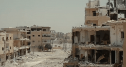 A destroyed neighborhood in Raqqa, Syria, 1 Aug 2017