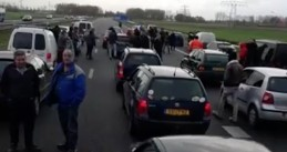 Kick Out Zwarte Piet blocked from protesting racism in Friesland Netherlands on Sinterklaas