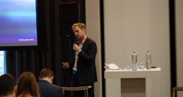 Lars van de Ven of the FinTech team at AFM speaking at ICO Event Amsterdam, 29 Nov 2017