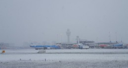 Snow at Schiphol Airport, 10 Dec 2017