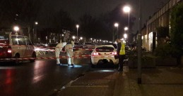 Forensic investigators at the scene of a double assassination on Rhijnauwensingel in Rotterdam, 20 Dec 2017