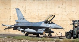 Dutch Air Force F-16 in the Middle East