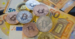Bitcoin cryptocurrency and euros