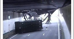 Ceiling of the Zeeburger tunnel on the A10 near Amsterdam collapsed after being hit by a truck, 3 Jan 2018