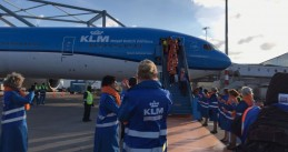 TeamNL arrives at Schiphol after a successful Winter Olympics in South Korea, 26 Feb 2018