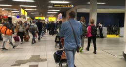 Crowded Schiphol Airport; 12 Feb 2018