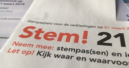 An Amsterdam ballot for the municipal elections, 21 March 2018
