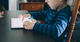 Child on a tablet