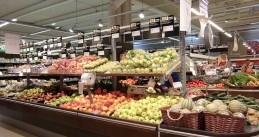 Fresh fruit aisle at a supermarket