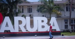 I heart Aruba in Oranjestad