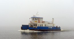 A GVB ferry in Amsterdam