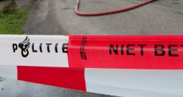 Dutch police crime scene tape