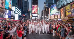 Dutch marines on Times Square in New York, 3 July 2018