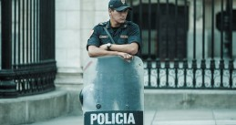 A police officer in Peru