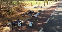 Four cyclists hit by a van on Heikantsepad in Volkel, 31 July 2018