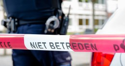 Dutch police at the scene of a crime