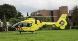 A trauma helicopter in the Netherlands