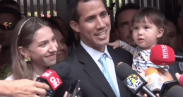 Juan Guaido and his family, 31 Jan 2019