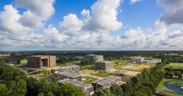 Panorama of the campus of Wageningen University & Research