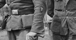 Man in a uniform of the Freiwilligen Legion Niederlanden shortly after World War II