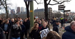 School kids marching through The Hague for more action against climate change, 7 Feb 2019