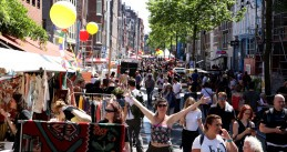 Street party in Spuibuurt in Amsterdam