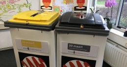 Ballot bins at a polling station in Amsterdam, Provincial States and waterboard elections, 20 March 2019