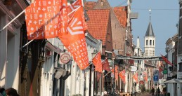 King's Day flags in Amersfoort, 26 April 2019