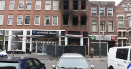 Fire damaged a building on Hilledijk in Rotterdam, 13 April 2019