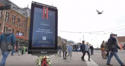 Digital billboards in Amsterdam turned into temporary war monuments on Remembrance Day, 4 May 2019