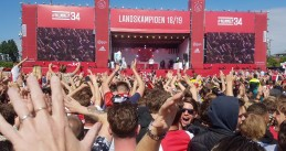 Ajax's 34th Eredivisie titled celebrated on Museumplein in Amsterdam, 16 May 2019
