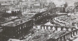 Damage done by the German bombardment of Rotterdam on 14 May 1940
