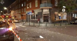 Damage caused by an explosion on Jan Blankenstraat in The Hague, 16 May 2019