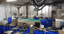 Cocaine lab found in a barn in Oud-Vossenmeer, 6 June 2019
