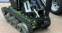 A Defense robot used to investigate explosives