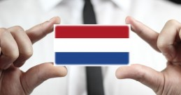 Dutch flag on a business card