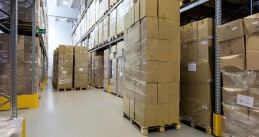 Packages in a distribution center