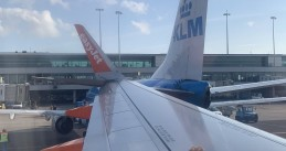 An easyJet Airbus A320 collided with a KLM Boeing 737-800 at Schiphol airport, 9 July 2019