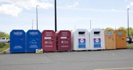 Bins for clothing donations