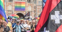 The Pride walk in Amsterdam, the official kickoff of Pride Amsterdam, 27 July 2019