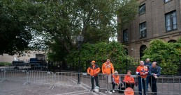 The first fans lining the route the Royals will take on Budget Day, 17 September 2019