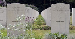 Graves in the Mierlo War Cemetery