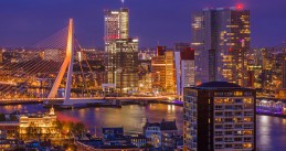 The Rotterdam skyline