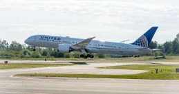 United Airlines branded Boeing 787-9 Dreamliner on a test flight. May 9, 2018.