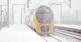 NS train in the snow