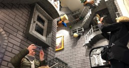 Inside the LEGO flagship store in Amsterdam, 29 November 2019