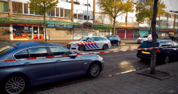 The scene on the Osdorperban In Amsterdam where a man was found shot alongside an unspecified explosive. Sept. 26, 2020