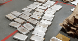 82 kilograms of cocaine and 1.5 million euros in cash found during an investigation in Breda. Sept. 24, 2020